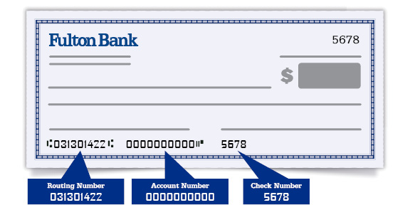 Check image with routing number
