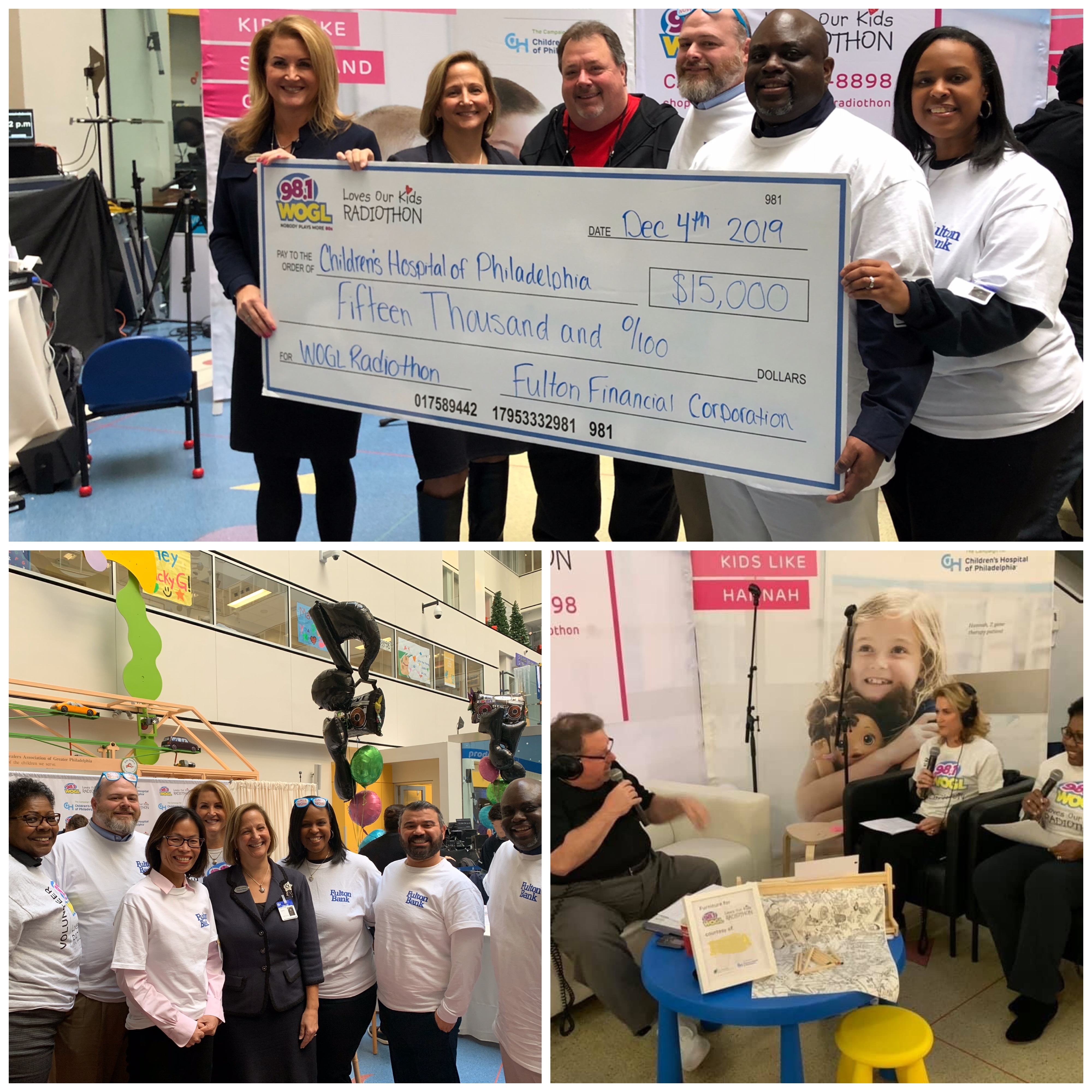 Fulton Bank employees participate in CHOP radiothon