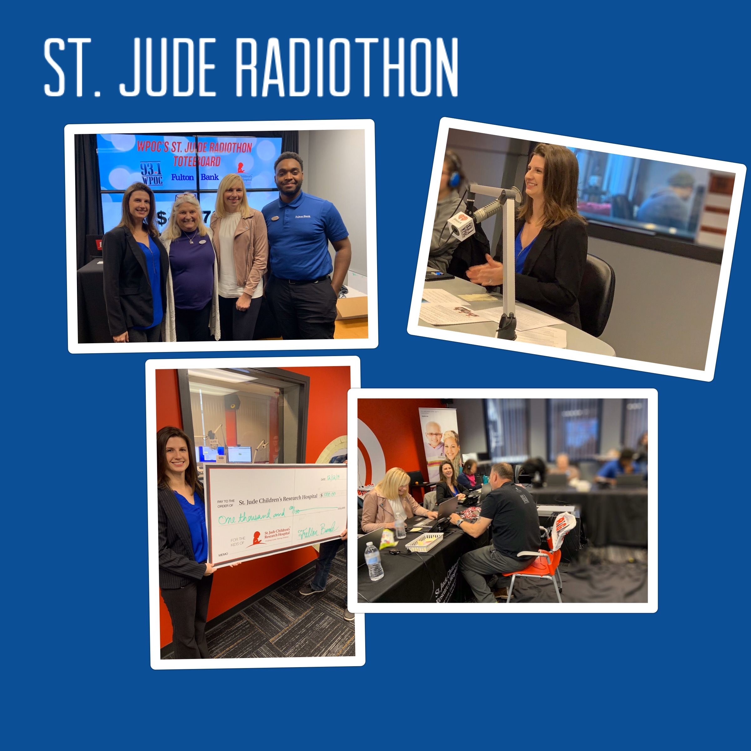 Fulton Bank employees volunteer at St. Jude Radiothon